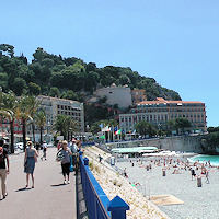 Nice: beach and Promenade des Anglais